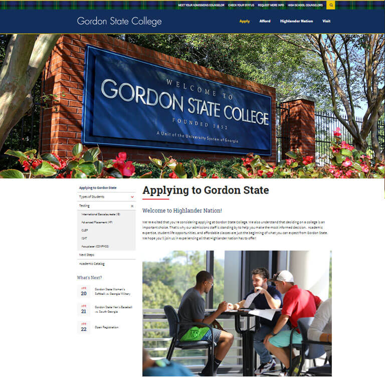Gordon State Admissions  - Image 2